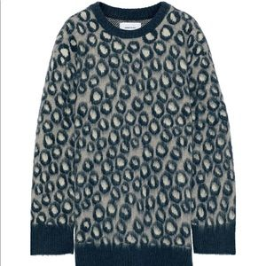 The Cali leopard-print brushed-knitted sweater